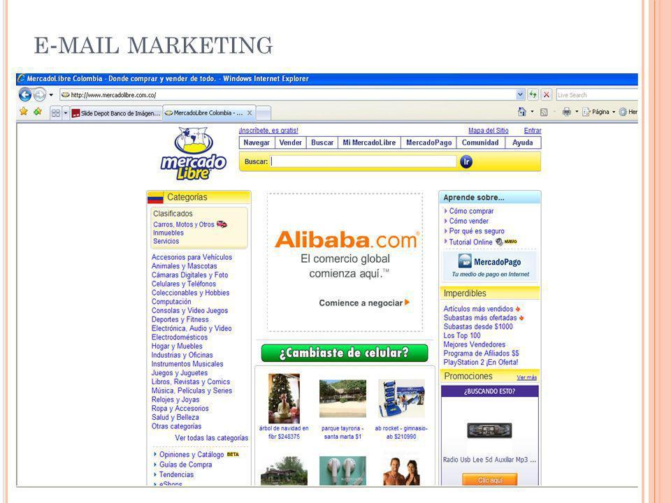 E-M ÓVIL M ARKETING Igual que en el E-mail Marketing pero por SMS, MMS y EMS
