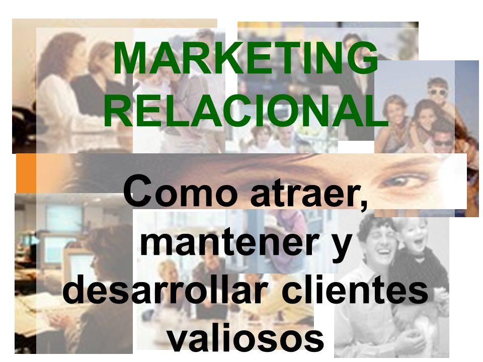 MARKETING RELACIONAL C omo atraer, mantener y desarrollar clientes valiosos OMAR HERNAN MONTES PARRA