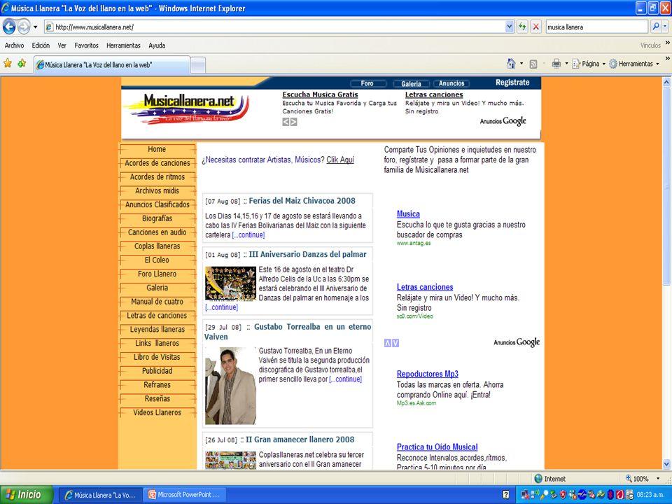 Son espacios publicitarios en las paginas los cuales describen una Web o solo Te dan una idea de lo que hay al otro lado si te atreves a dar clic en ellos.