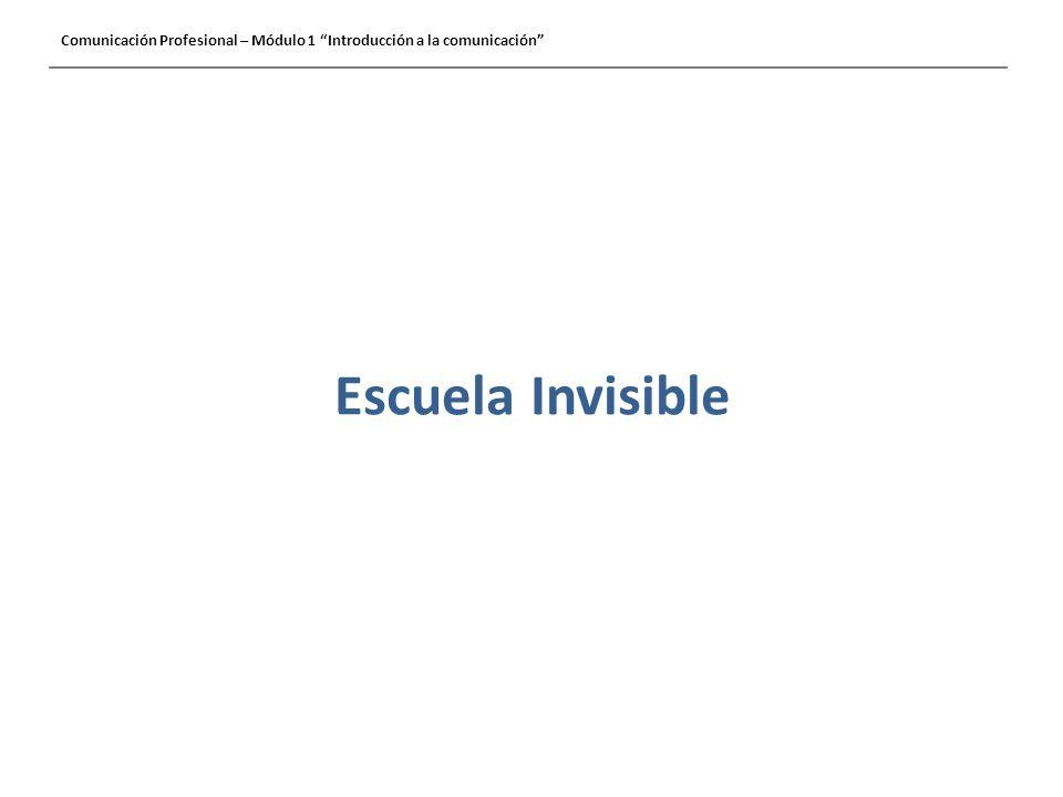 Escuela Invisible Comunicación Profesional – Módulo 1 Introducción a la comunicación