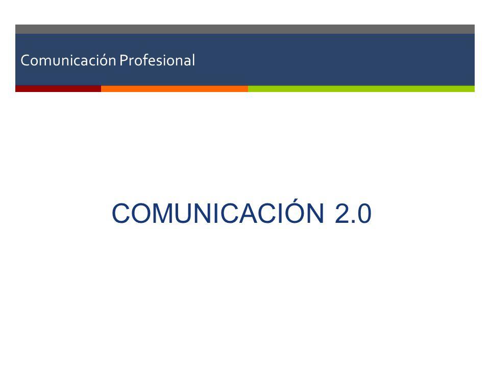 Definición de Internet 2.0 Conjunto de aplicaciones web que estimulan la conversación, la interfaz y el intercambio ágiles entre los usuarios 1.0 Mensajes masivosAudiencia pasivaSitios de noticiasMsj unidireccionales 2.0 Mensajes personalizadosAudiencia participativaPeriodismo ciudadanoConversaciones