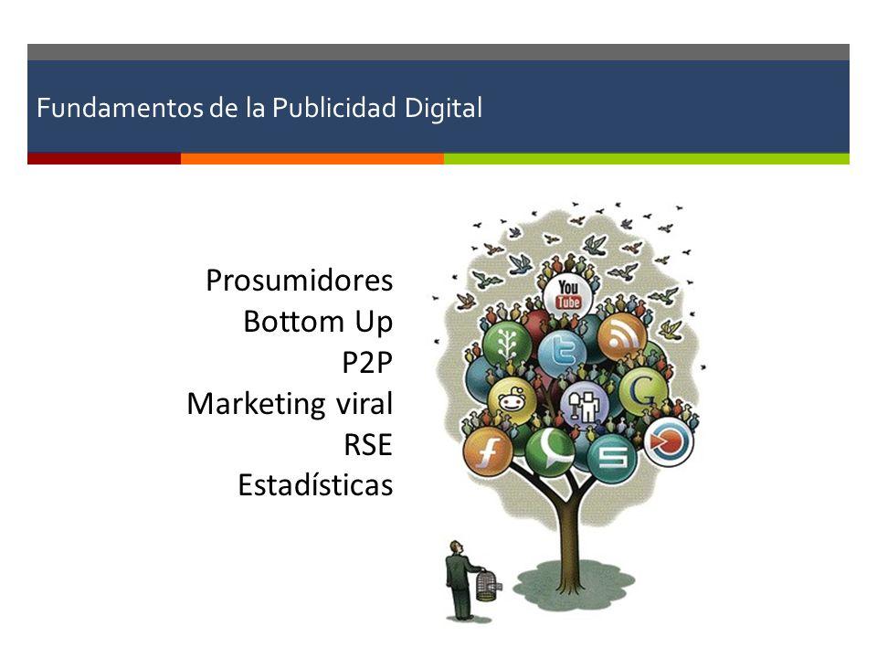 Fundamentos de la Publicidad Digital Prosumidores Bottom Up P2P Marketing viral RSE Estadísticas