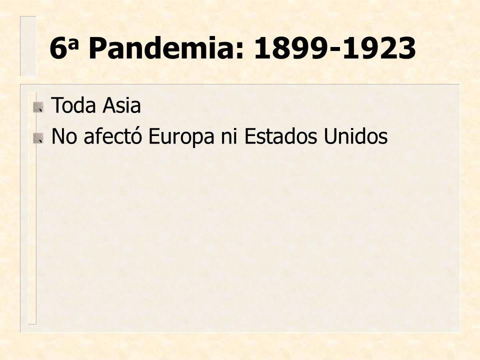 Toda Asia No afectó Europa ni Estados Unidos 6 a Pandemia: 1899-1923