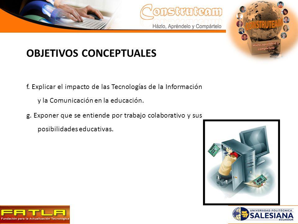 OBJETIVOS CONCEPTUALES f.