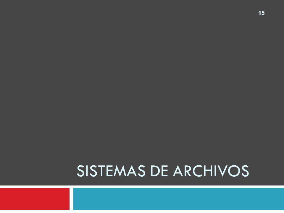 15 SISTEMAS DE ARCHIVOS