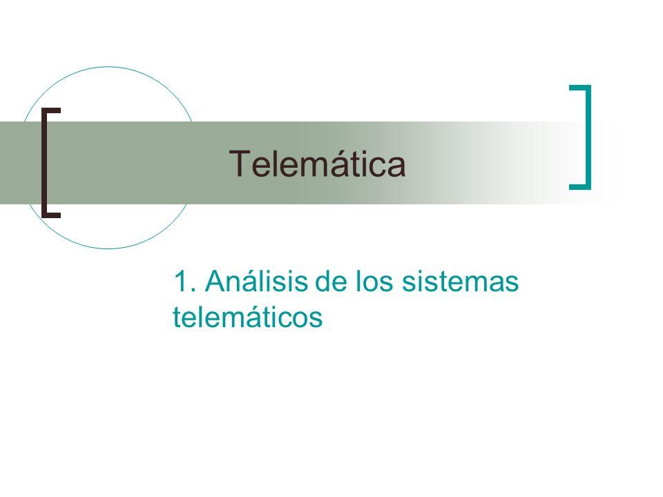 Telemática 1. Análisis de los sistemas telemáticos