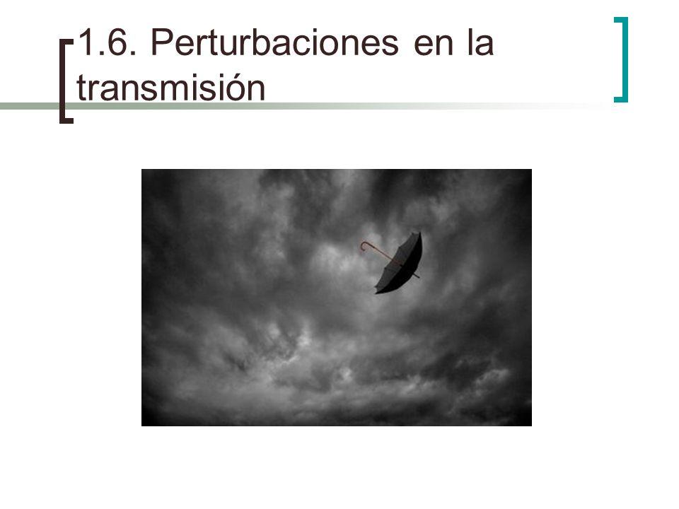 1.6. Perturbaciones en la transmisión