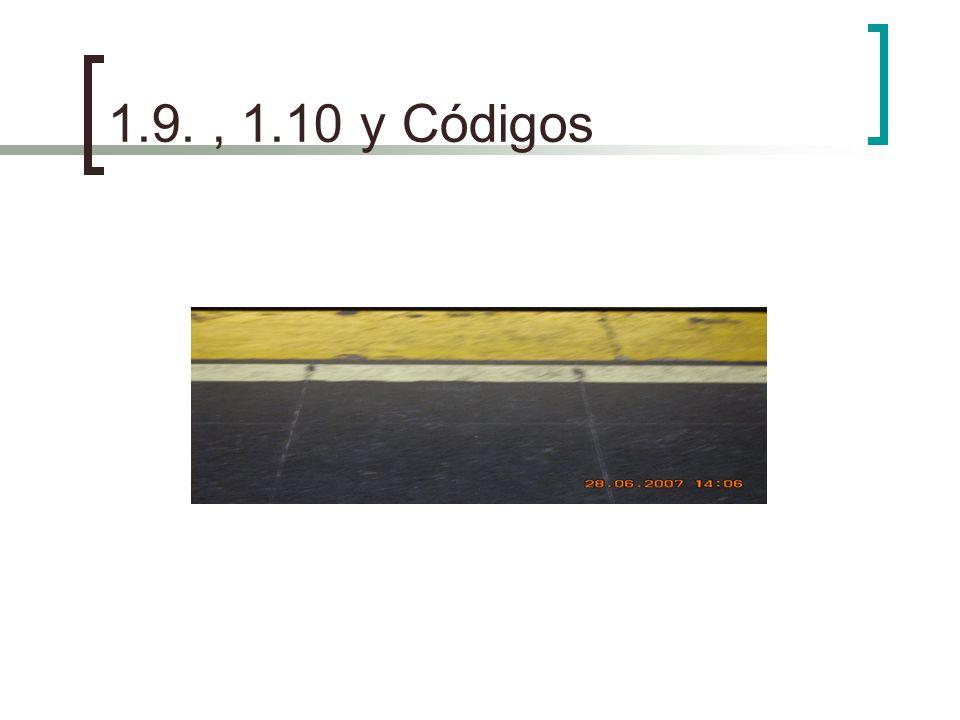 1.9., 1.10 y Códigos