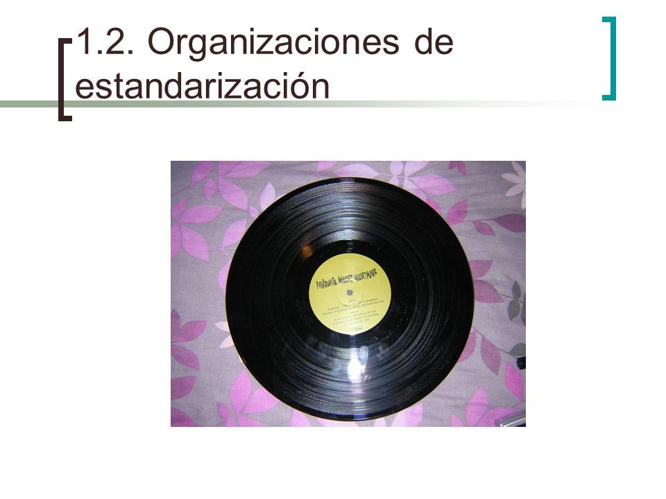 1.2. Organizaciones de estandarización