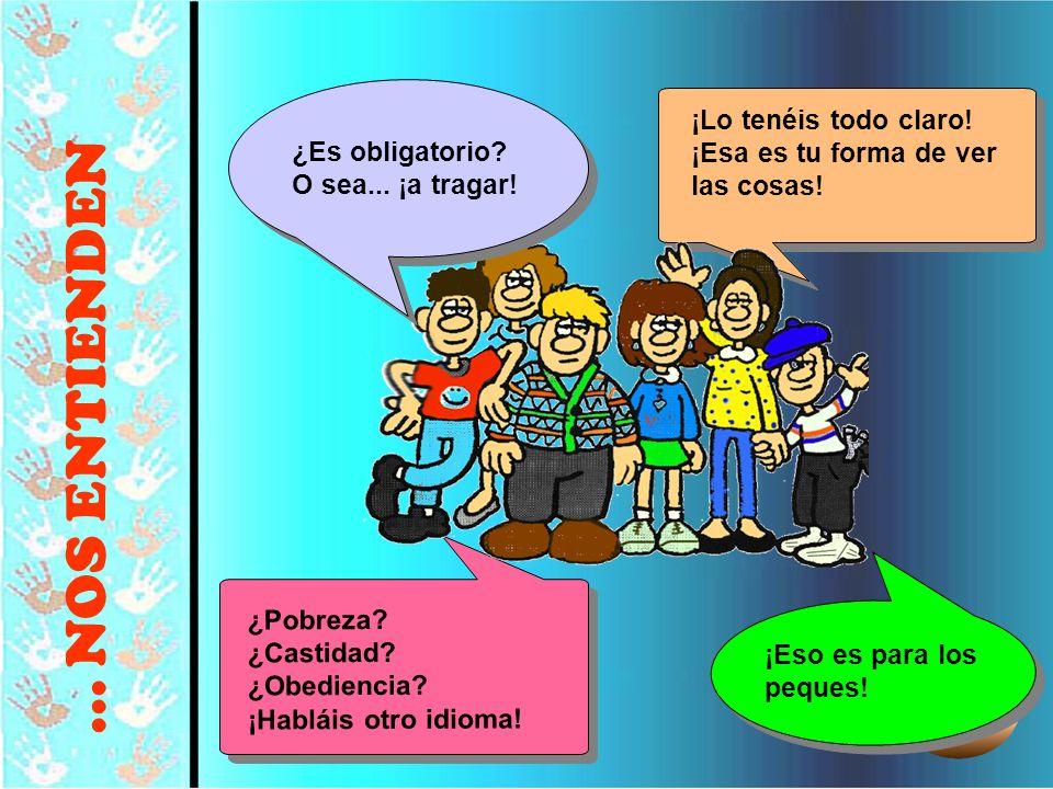 © Editorial CCS29 ¡Lo tenéis todo claro! ¡Esa es tu forma de ver las cosas! ¿Pobreza? ¿Castidad? ¿Obediencia? ¡Habláis otro idioma! ¡Eso es para los p