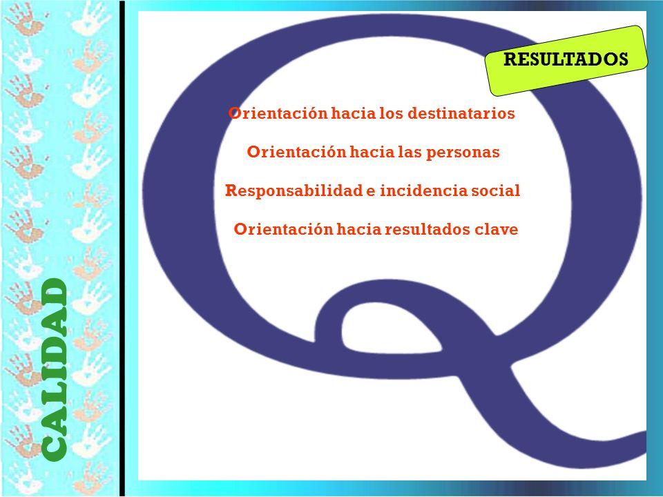 © Editorial CCS34 Orientación hacia los destinatarios Orientación hacia las personas Responsabilidad e incidencia social Orientación hacia resultados