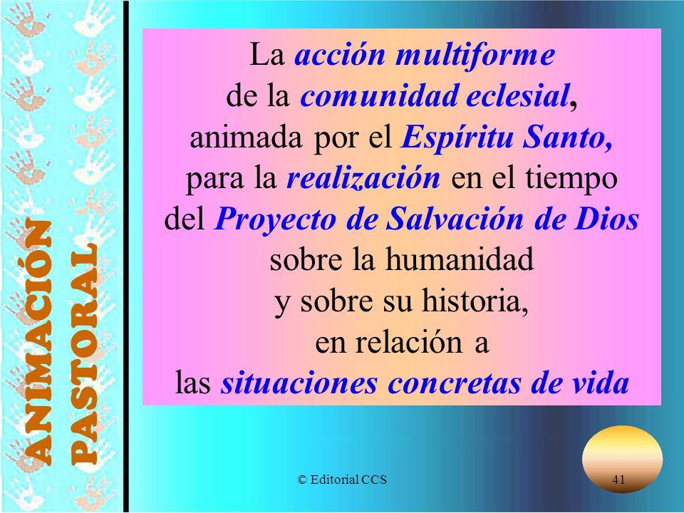 © Editorial CCS41 La acción multiforme de la comunidad eclesial, animada por el Espíritu Santo, para la realización en el tiempo del Proyecto de Salva