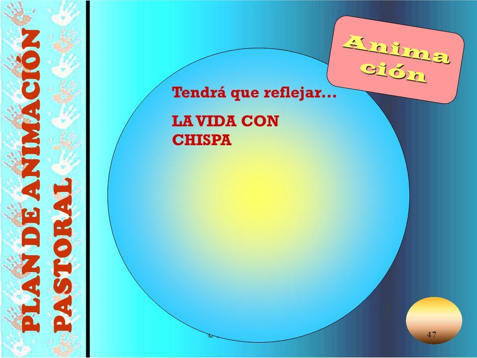 © Editorial CCS47 Tendrá que reflejar... LA VIDA CON CHISPA PLAN DE ANIMACIÓN PASTORAL Animación