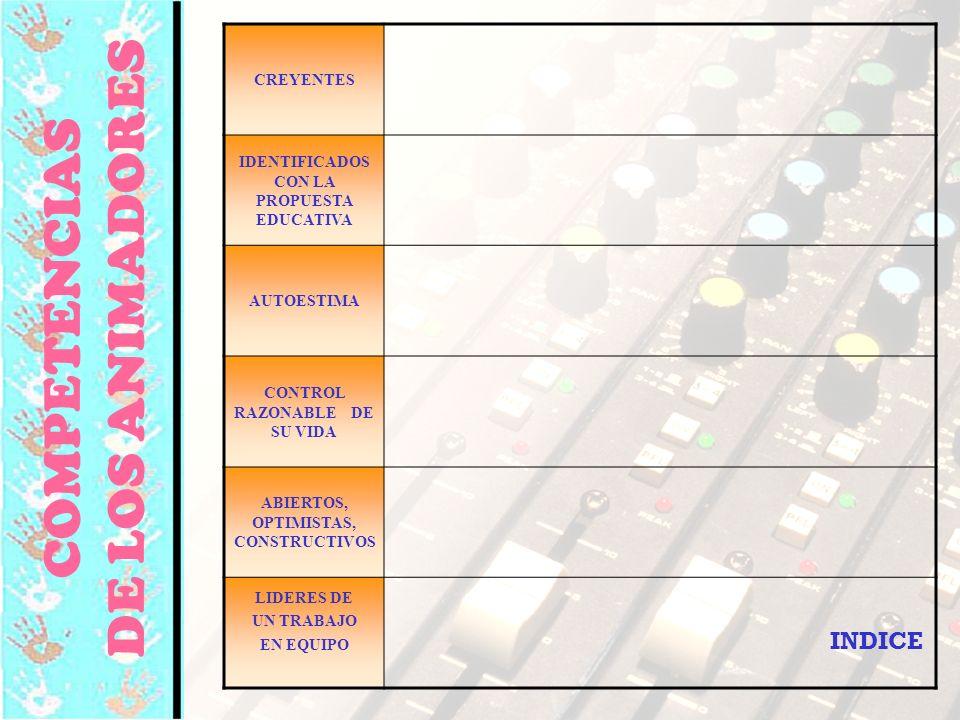 © Editorial CCS94 CREYENTES IDENTIFICADOS CON LA PROPUESTA EDUCATIVA AUTOESTIMA CONTROL RAZONABLE DE SU VIDA ABIERTOS, OPTIMISTAS, CONSTRUCTIVOS LIDER