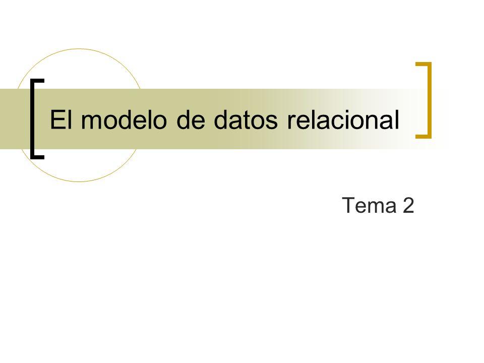 El modelo de datos relacional Tema 2