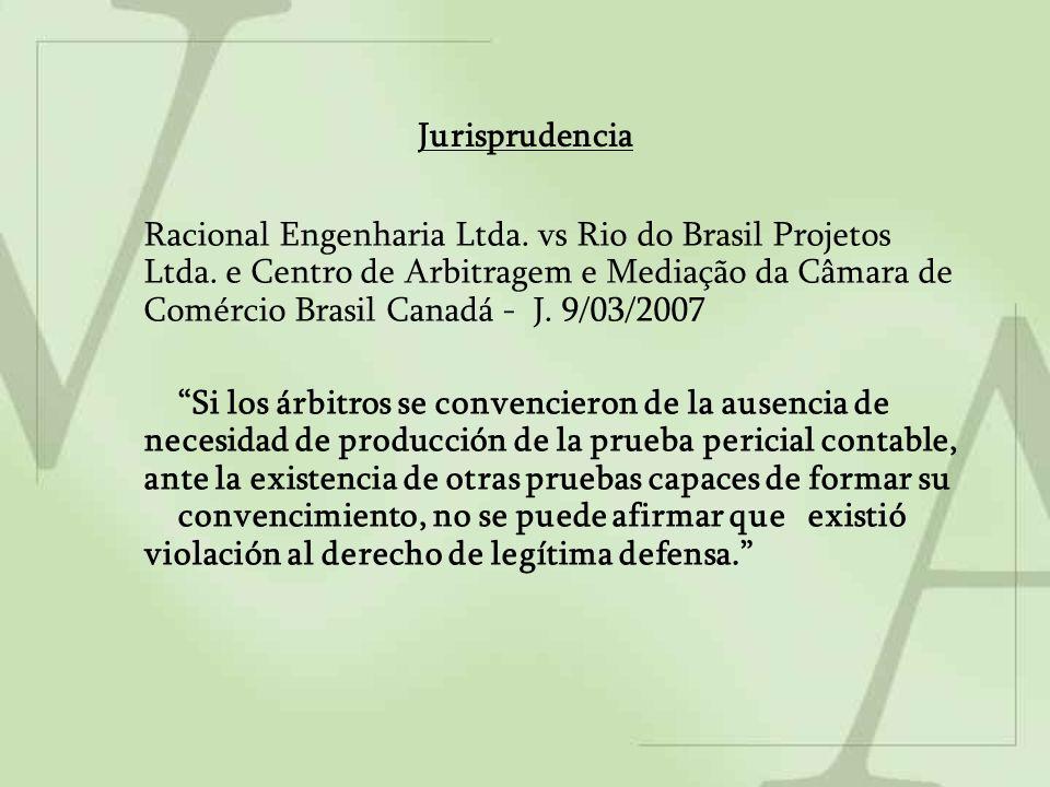 Jurisprudencia Racional Engenharia Ltda. vs Rio do Brasil Projetos Ltda. e Centro de Arbitragem e Mediação da Câmara de Comércio Brasil Canadá - J. 9/