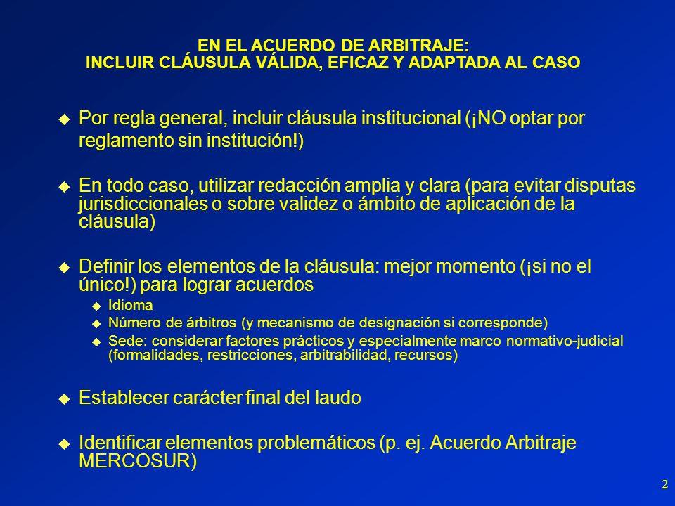 3 Adjudicación de expertos Elementos típicos: plazos cortos y decisión todo o nada ¿ADR o forma de jurisdicción.