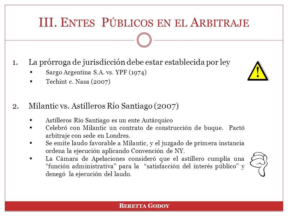 1.La prórroga de jurisdicción debe estar establecida por ley Sargo Argentina S.A.