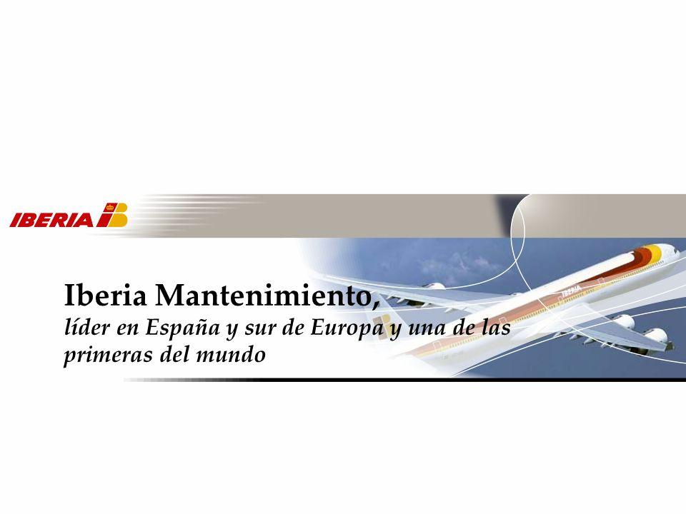 Iberia Mantenimiento, líder en España y sur de Europa y una de las primeras del mundo