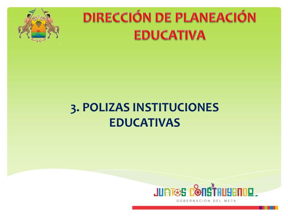 3. POLIZAS INSTITUCIONES EDUCATIVAS