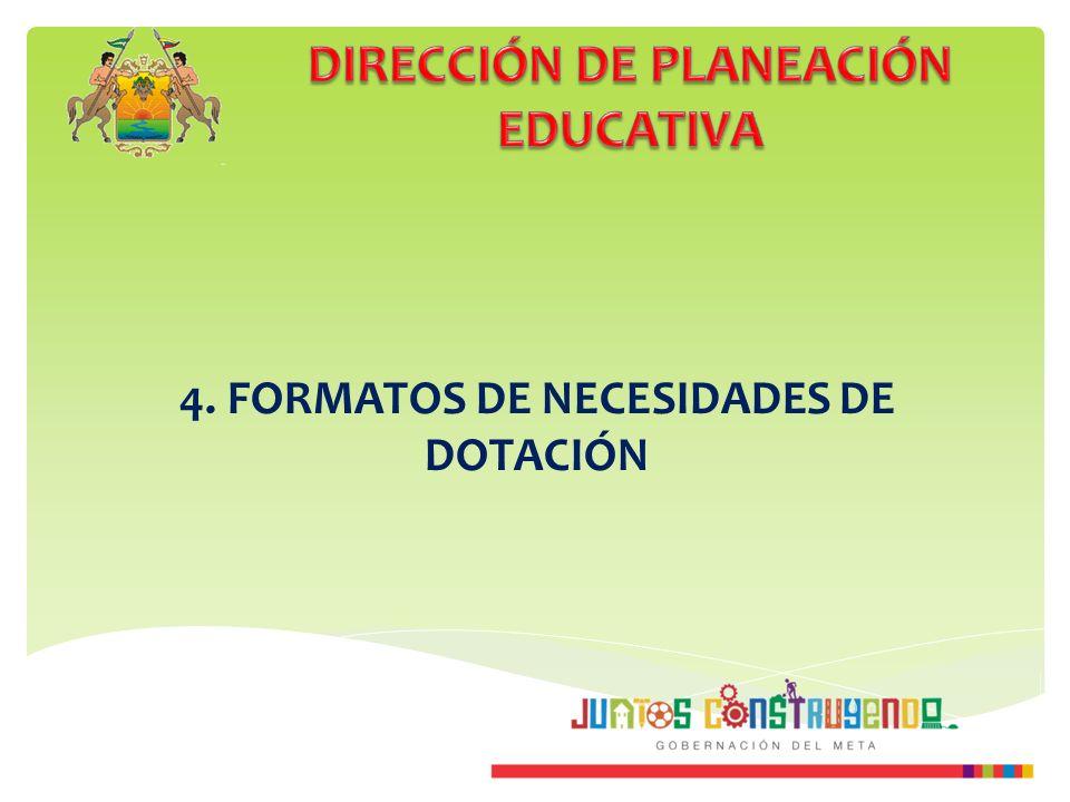 4. FORMATOS DE NECESIDADES DE DOTACIÓN