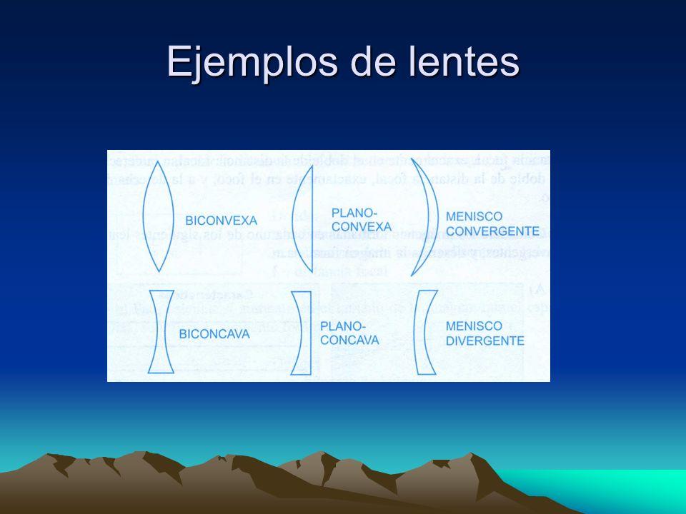 Ejemplos de lentes