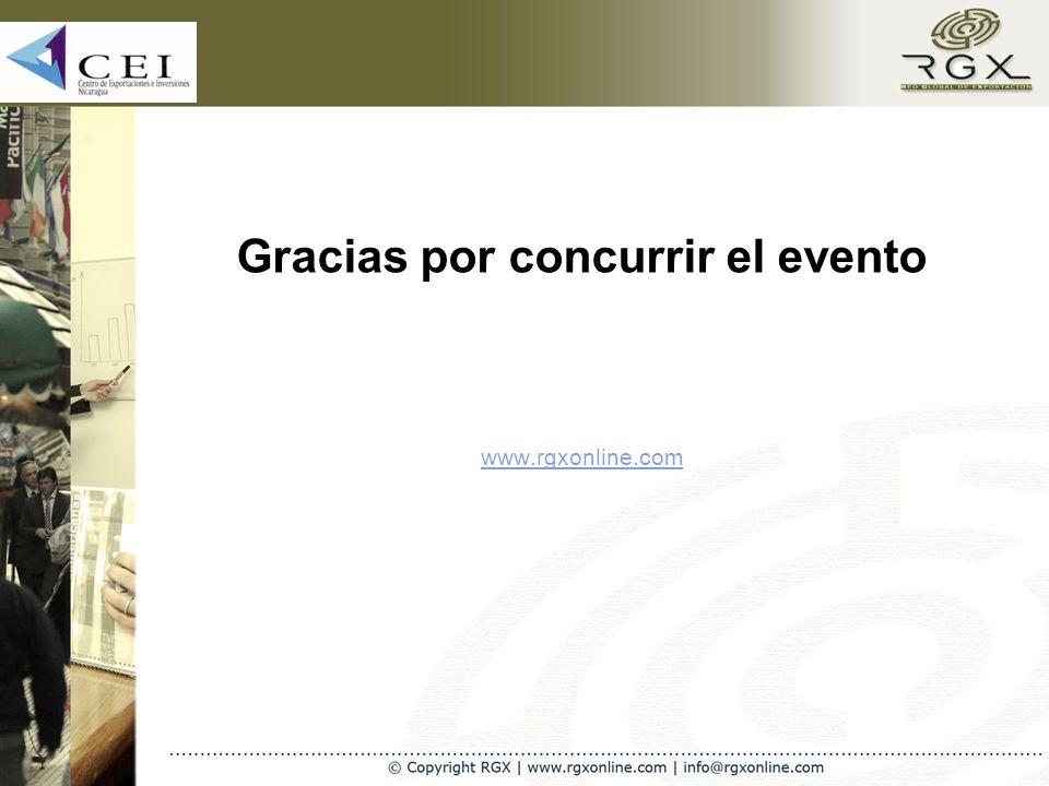 Gracias por concurrir el evento www.rgxonline.com