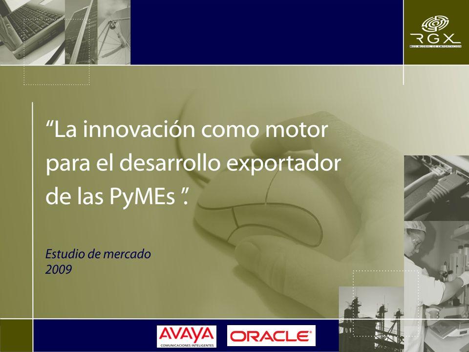 Objetivo del estudio: RGX, Red Global de Exportación, en asociación con AVAYA y ORACLE, realizó el presente estudio entre PyMEs exportadoras de Latinoamérica, con el objetivo de conocer las condiciones, capacidades y comportamientos de éstas en materia de innovación.