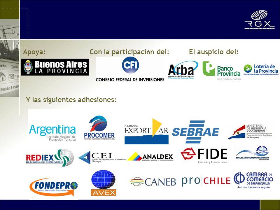 Apoya: Con la participaci ó n del: El auspicio del: Y las siguientes adhesiones: