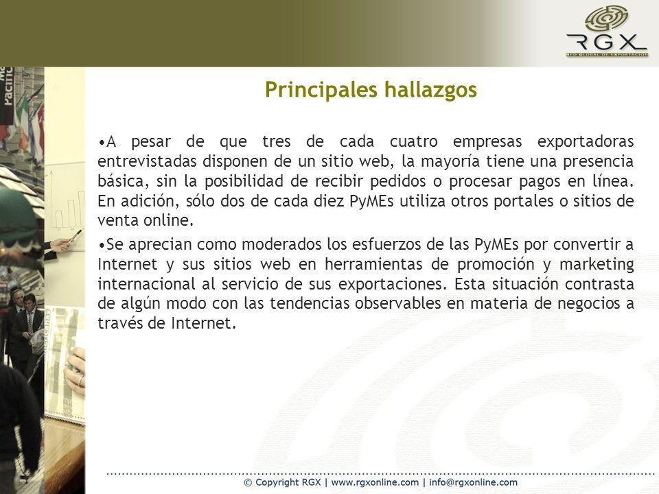 I- Utilización general de Internet y TIC`s y percepción de su impacto en la PyME exportadora Un 31% de las empresas latinas indicaron que utilizan otros dispositivos diferentes a la clásica PC para conectarse a Internet.