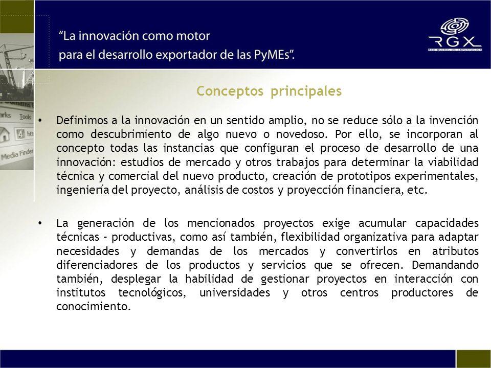 Definimos a la innovación en un sentido amplio, no se reduce sólo a la invención como descubrimiento de algo nuevo o novedoso. Por ello, se incorporan