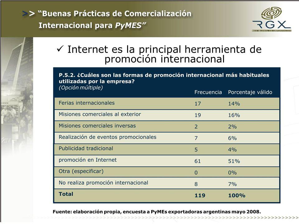 Internet es la principal herramienta de promoción internacional