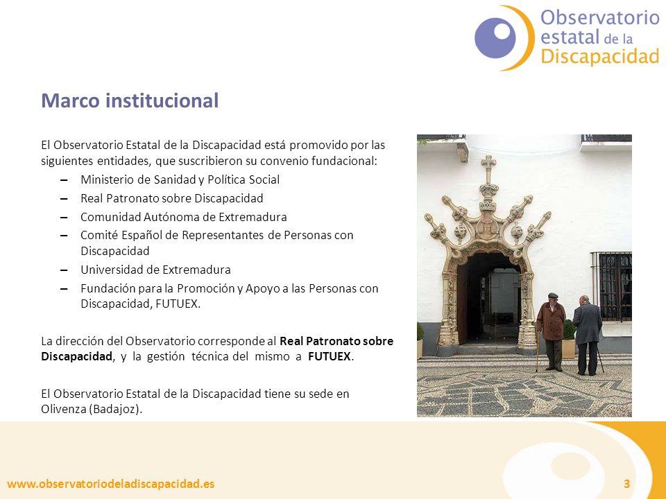 www.observatoriodeladiscapacidad.es 4 Objetivos Conocer, analizar y difundir información sobre la situación de las personas con discapacidad y sus familias, sus necesidades y demandas y las tendencias de futuro.