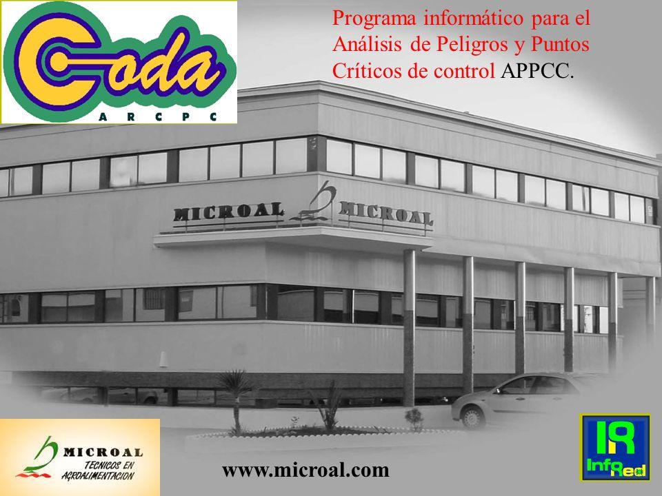1 Programa informático para el Análisis de Peligros y Puntos Críticos de control APPCC. www.microal.com