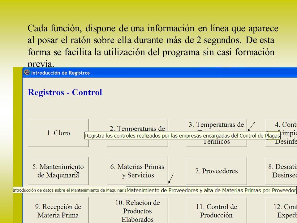 18 producción El control de la producción puede llevarse desde CODA.