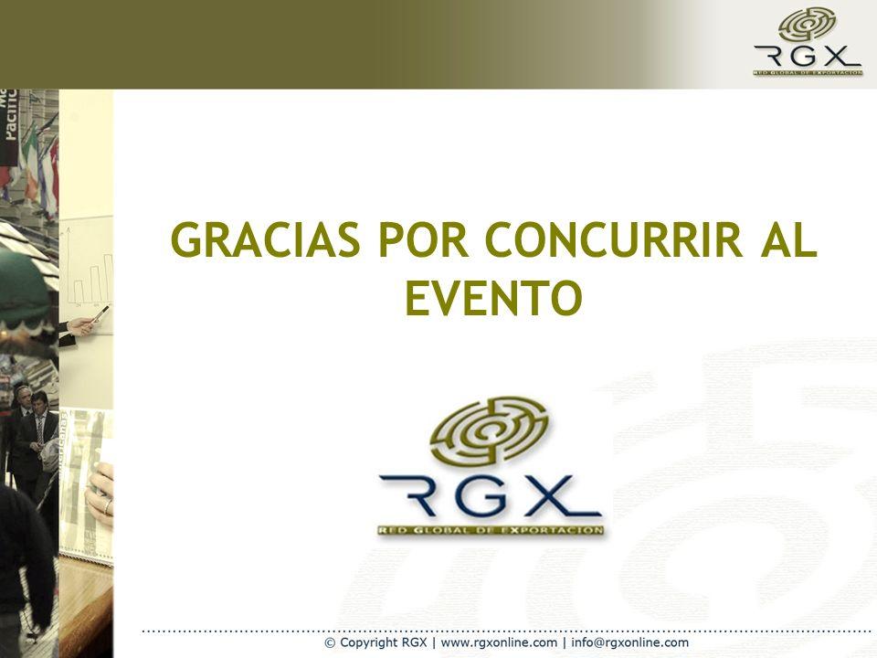 GRACIAS POR CONCURRIR AL EVENTO