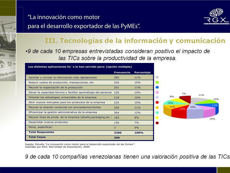 En Venezuela como en el resto de los países, el área administrativa es el ámbito donde las TICs se encuentran mas difundidas.