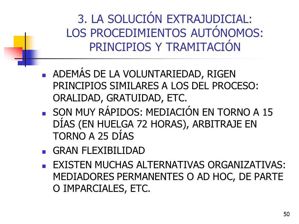 50 3. LA SOLUCIÓN EXTRAJUDICIAL: LOS PROCEDIMIENTOS AUTÓNOMOS: PRINCIPIOS Y TRAMITACIÓN ADEMÁS DE LA VOLUNTARIEDAD, RIGEN PRINCIPIOS SIMILARES A LOS D
