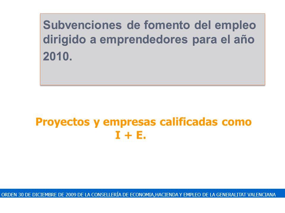 ORDEN 30 DE DICIEMBRE DE 2009 DE LA CONSELLERÍA DE ECONOMIA,HACIENDA Y EMPLEO DE LA GENERALITAT VALENCIANA. Subvenciones de fomento del empleo dirigid