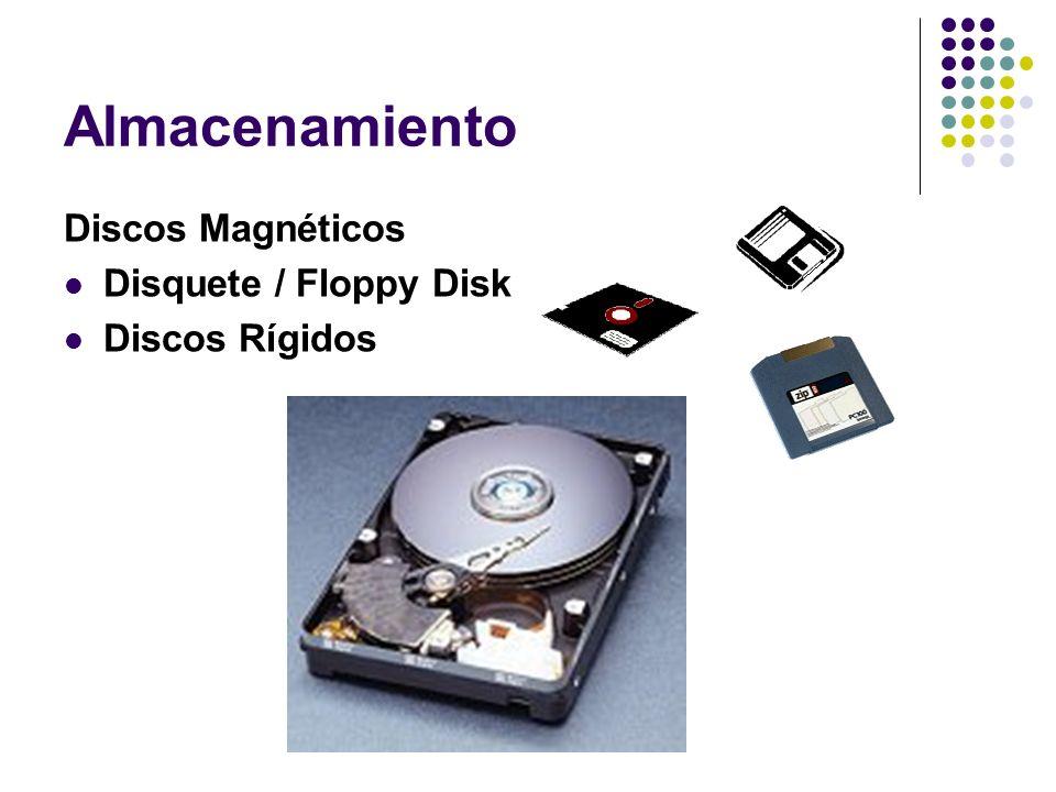 Almacenamiento Discos Magnéticos Disquete / Floppy Disk Discos Rígidos