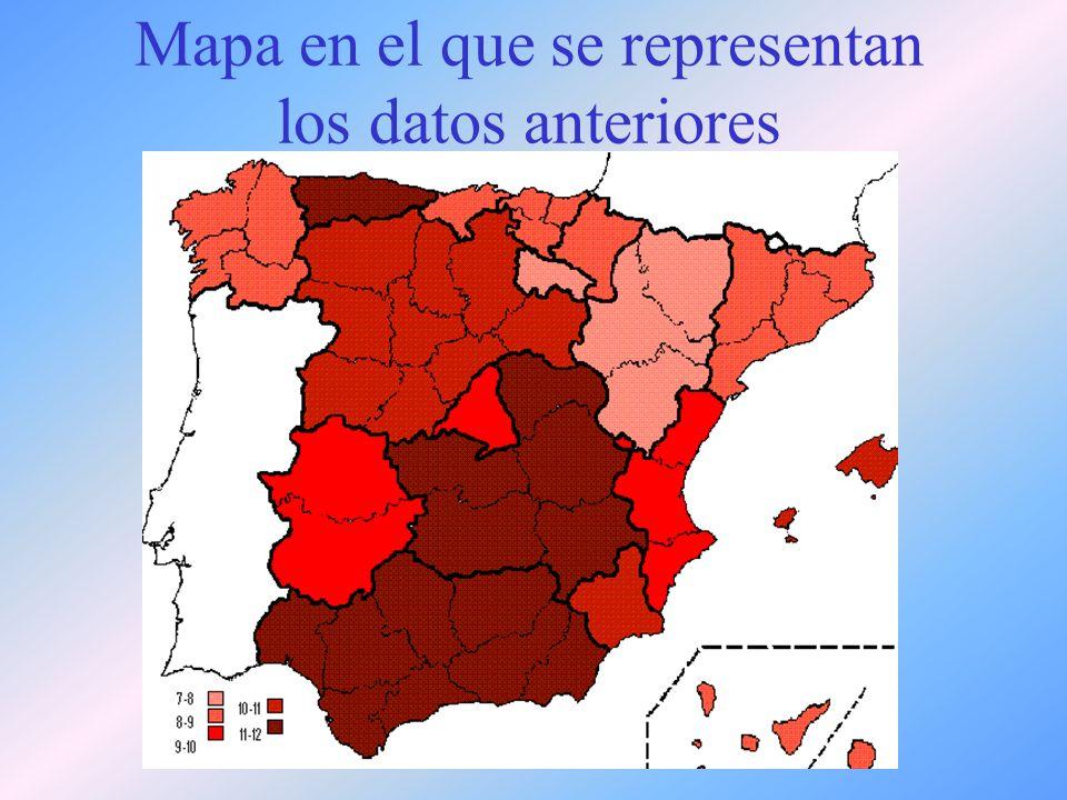 Mapa en el que se representan los datos anteriores