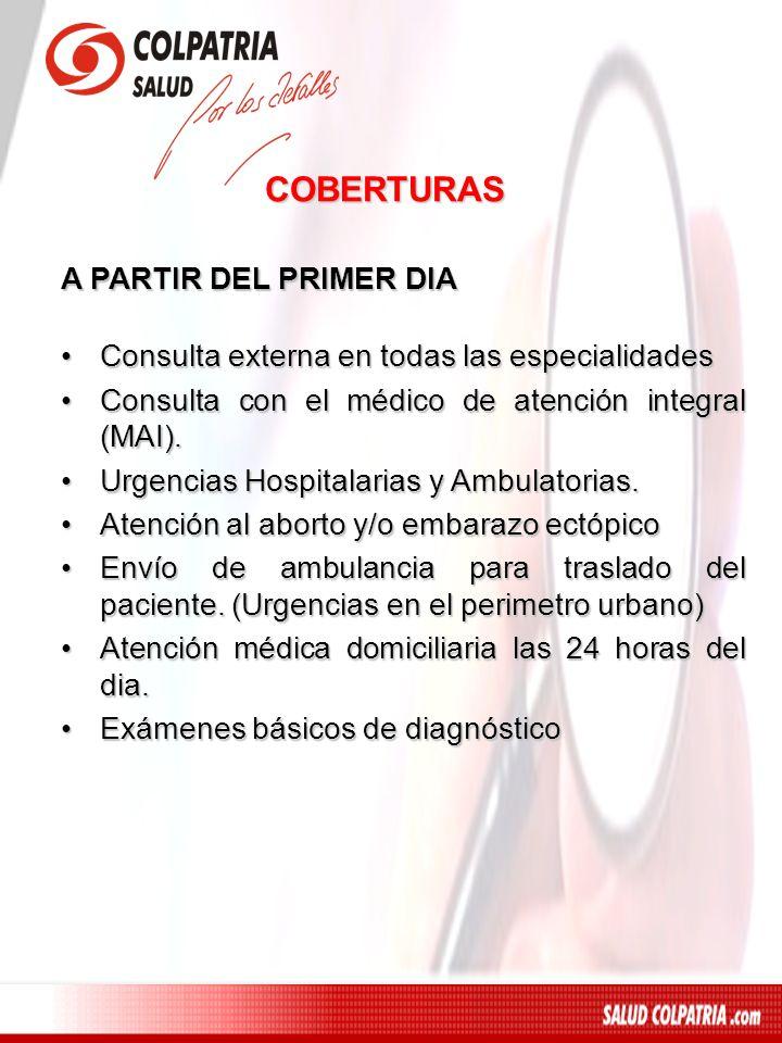 A PARTIR DEL PRIMER DIA Orientación médica telefónica 24 horas, Call Center.Orientación médica telefónica 24 horas, Call Center.
