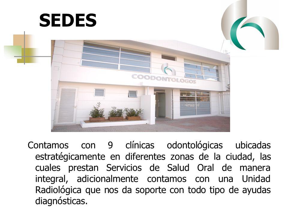 SEDES Contamos con 9 clínicas odontológicas ubicadas estratégicamente en diferentes zonas de la ciudad, las cuales prestan Servicios de Salud Oral de