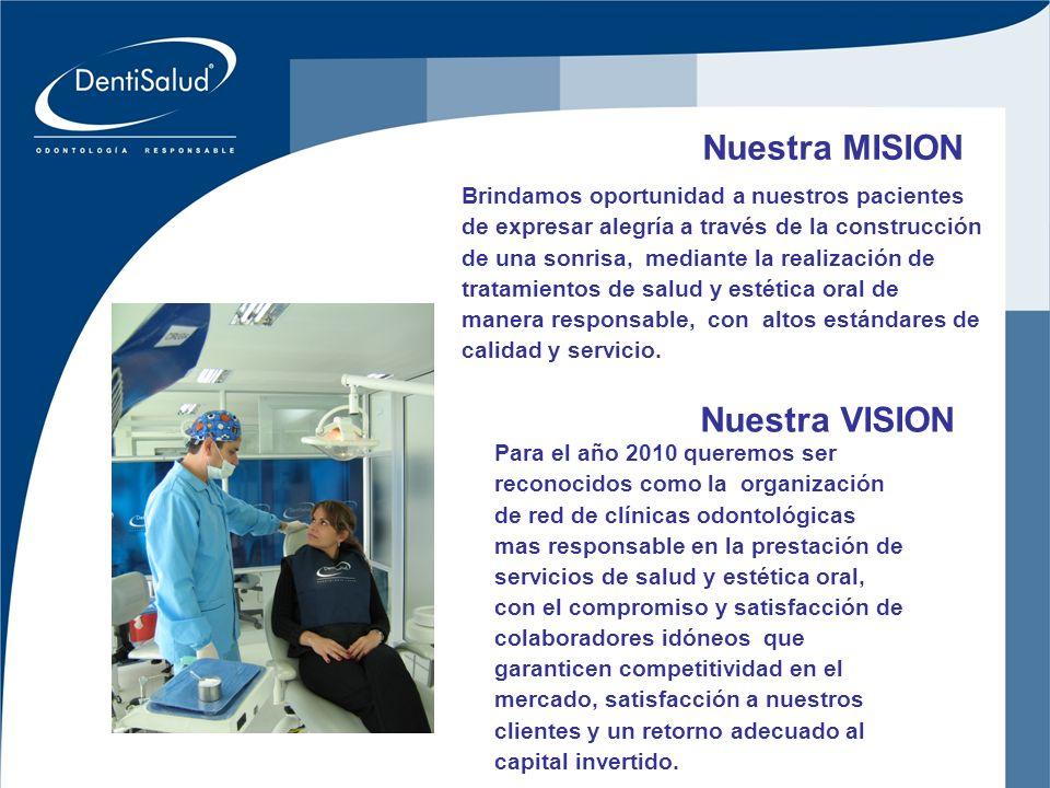 Inversiones Crear Oral Ltda Nuestra MISION Brindamos oportunidad a nuestros pacientes de expresar alegría a través de la construcción de una sonrisa,