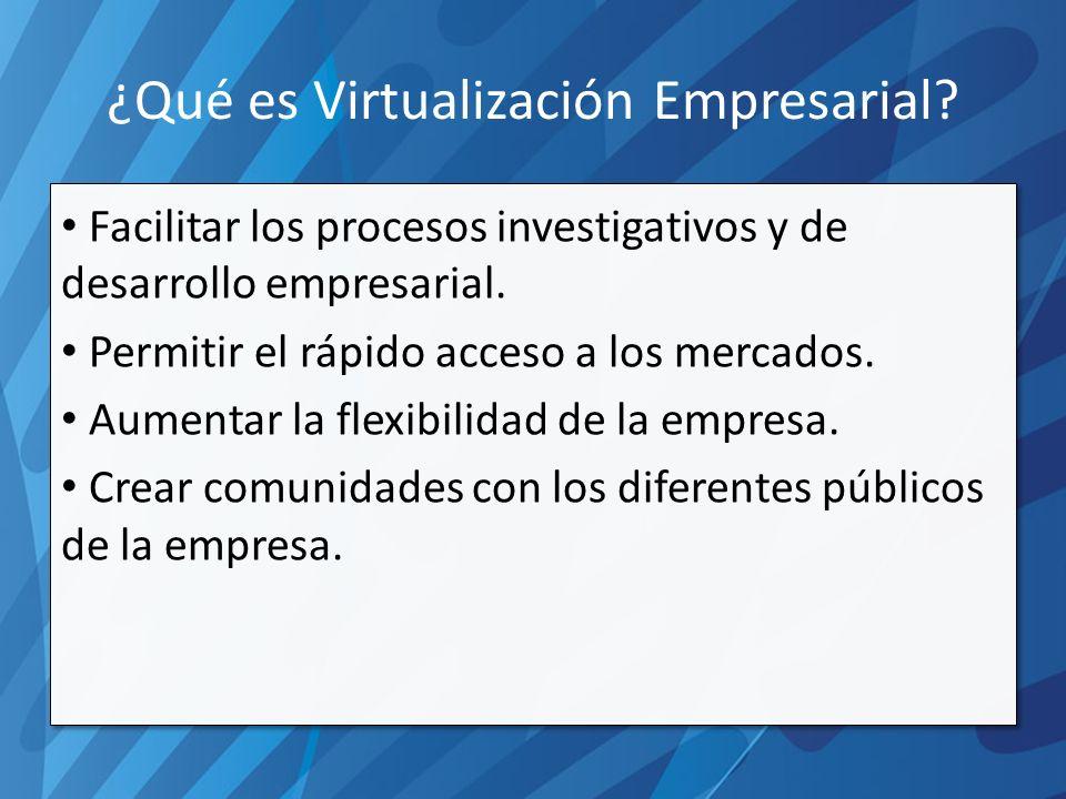 ¿Qué es Virtualización Empresarial.