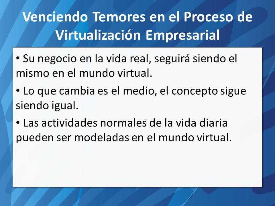 Su negocio en la vida real, seguirá siendo el mismo en el mundo virtual.