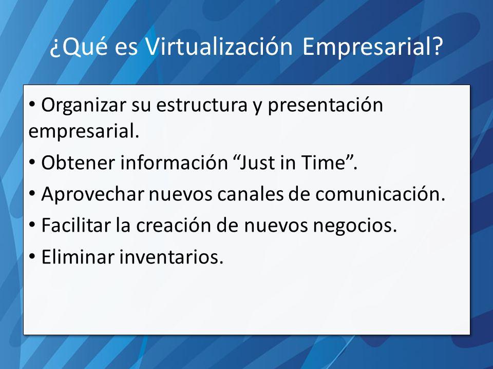 ¿Qué NO es Virtualización Empresarial.Hacer resistencia al cambio.