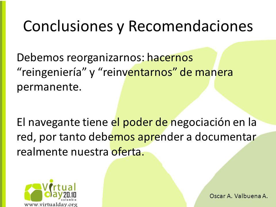 Debemos reorganizarnos: hacernos reingeniería y reinventarnos de manera permanente.