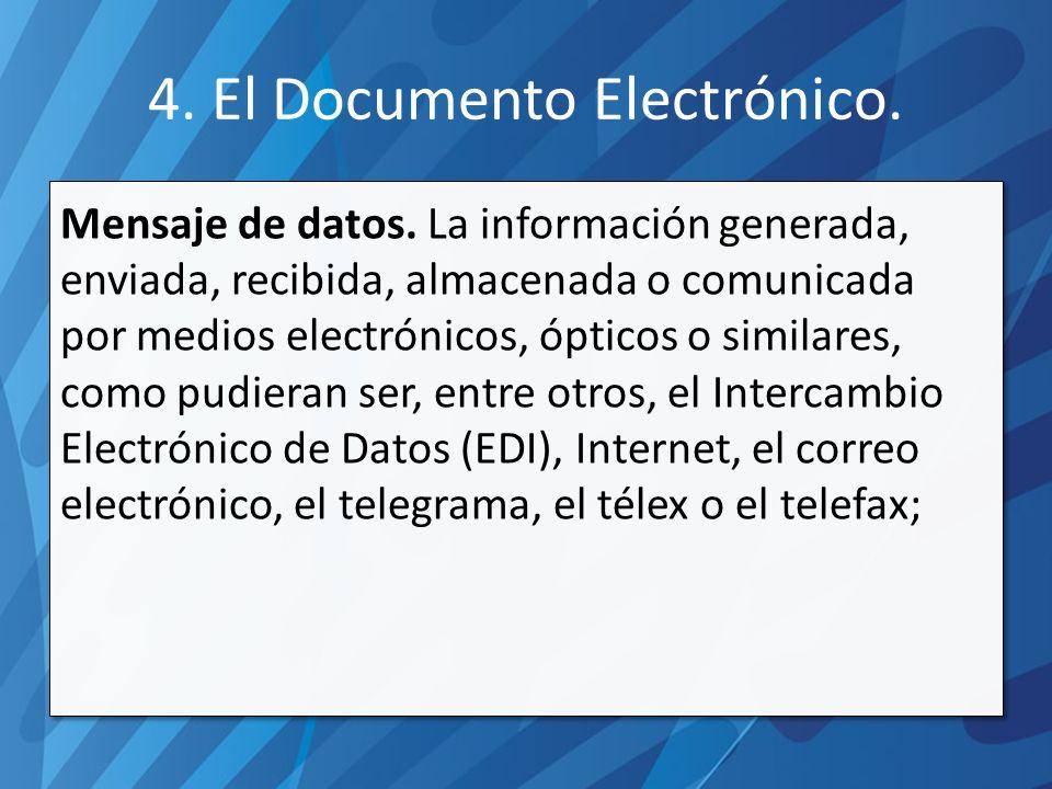 4.El Documento Electrónico. Mensaje de datos.