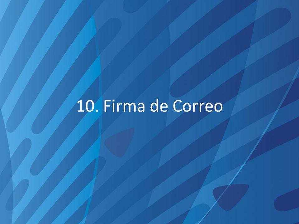10. Firma de Correo